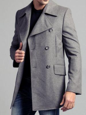 男式灰色风衣搭配建议