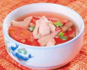 女性养血就吃番茄猪肝瘦肉汤
