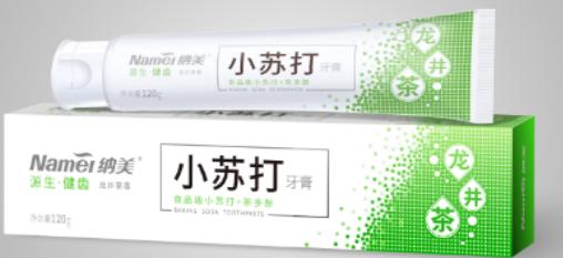 清新绿茶牙膏品牌。